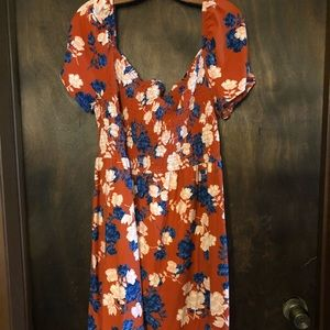 Derek Heart Plus Floral Knit Peasant Dress